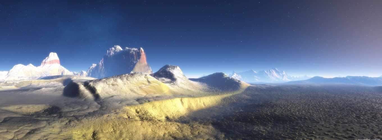горы, wasteland, oblaka, небо, capercaillie, dual, изображение, бесплатные,