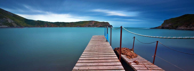 причал, озера, wooden, reki, моря, красивые, blue, заливе, банка,
