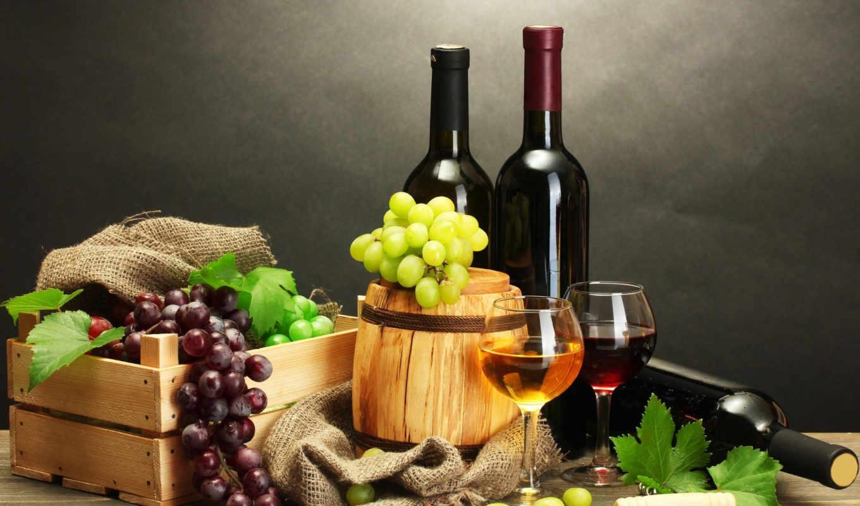 вино, бутылка, красное,
