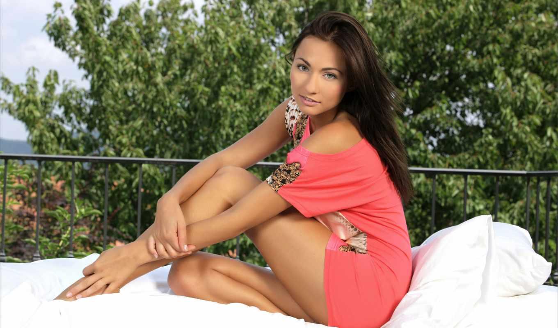 michaela, isizzu, модель, sexy, kalena, изящная, кровать,