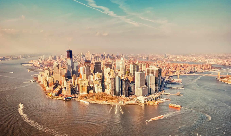 new, york, нью, манхэттан, город, ny, высоком, usa,
