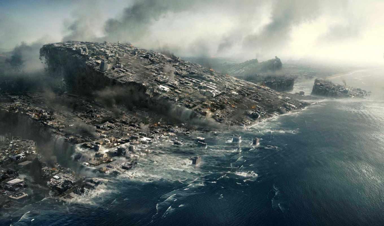 катастрофа, конец, света, разрушения, плиты, город, earth, ученого, код, και, американского, world, кнопкой, image, widescreen,