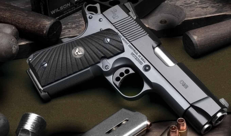 handgun, gun, wilson, combat, пистолет