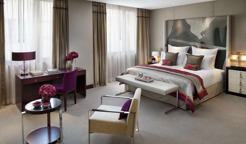 спальня, dizain, interer, кухня, двумя,