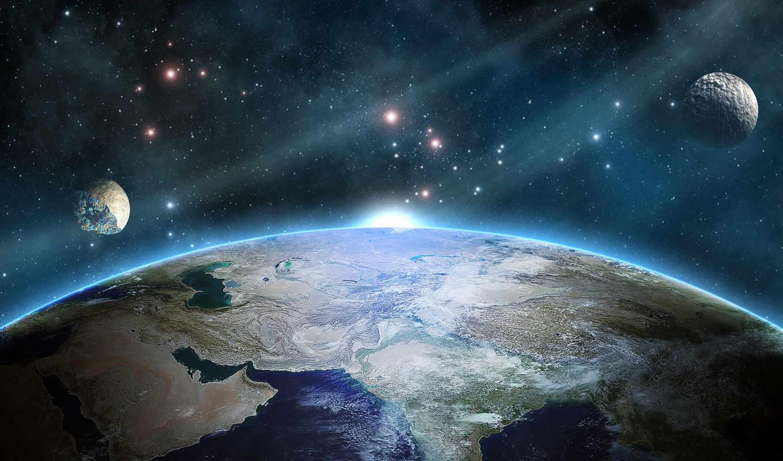 марта, спутник, февр, прекрасное, космос, далеко,