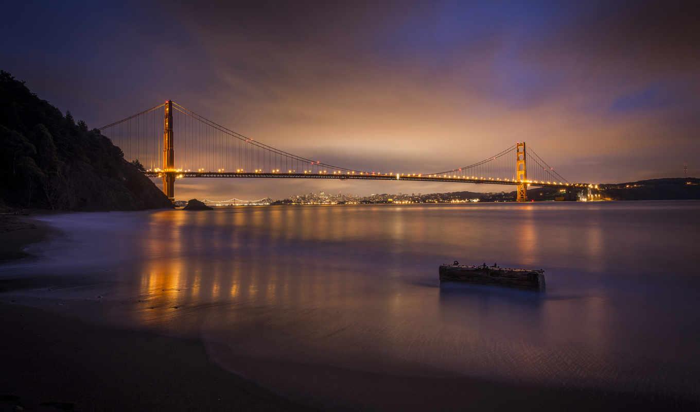 дек, мост, francisco, сан, золотые, калифорния, gate,
