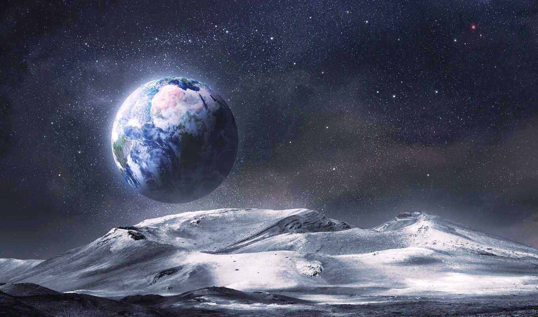 cosmos, land, землю, планеты, космоса, потрясающие, рельеф, луна,