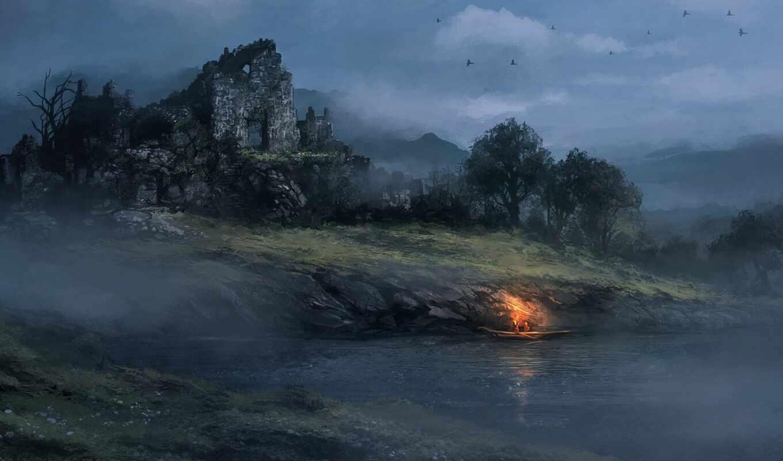 landscape, fantasy, идея