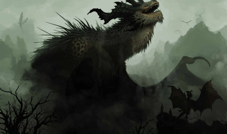 mother, fantasy, desktop, dragon, gift,