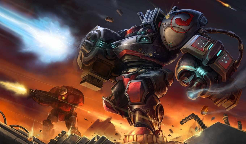 starcraft, терран, оружие, арт, мародёр, война,