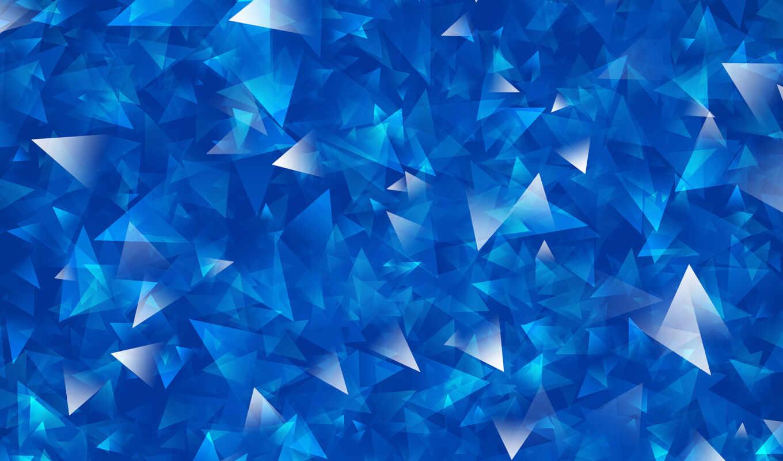 треугольники, абстракция, линии, текстура, blue,