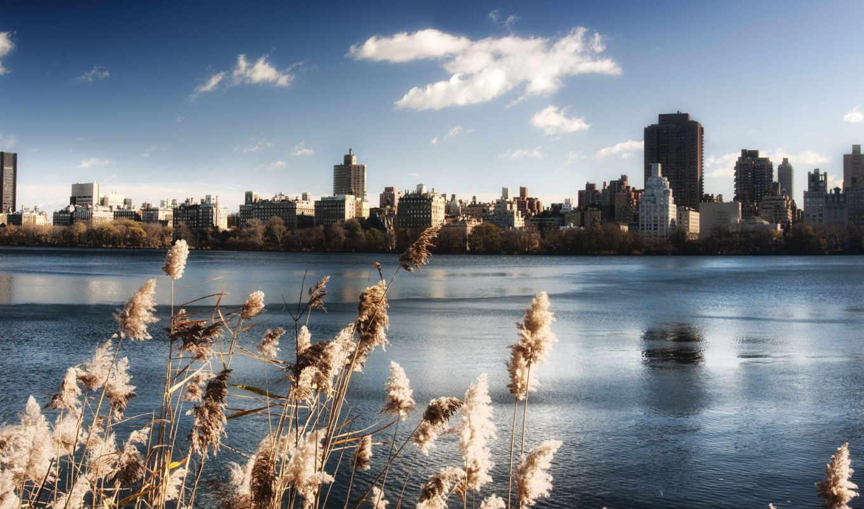 нью, флот, центральный, york, new, город, картинка, water, небо,