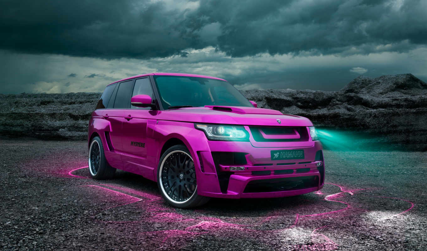 rover, range, vogue, hamann, land, розовый,
