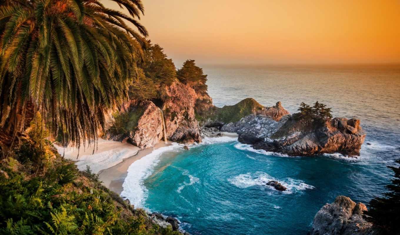 sur, биг, california, mcway, falls, state, pfeiffer, burns, julia, pacific, park, ocean,