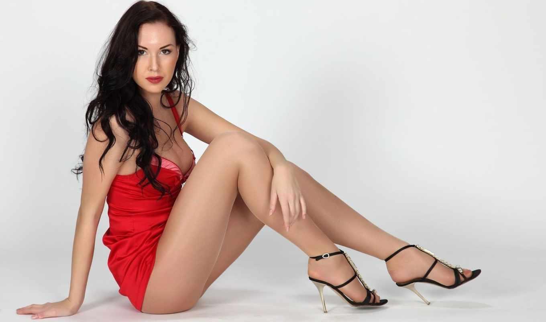 платье, девушка, красное, natascha, серый, verkaik,