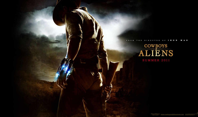 cowboys, aliens, parede, papel,