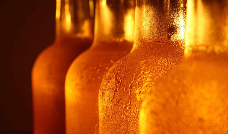пиво, бутылки, стекло, капли, cerveja, напиток, картинка, botles, refill, бутылка, охлажденное, бутылках, кнопкой,