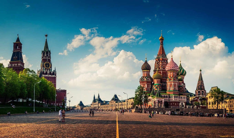 площадь, красная, москва, храм, кремль, василия, блаженного,