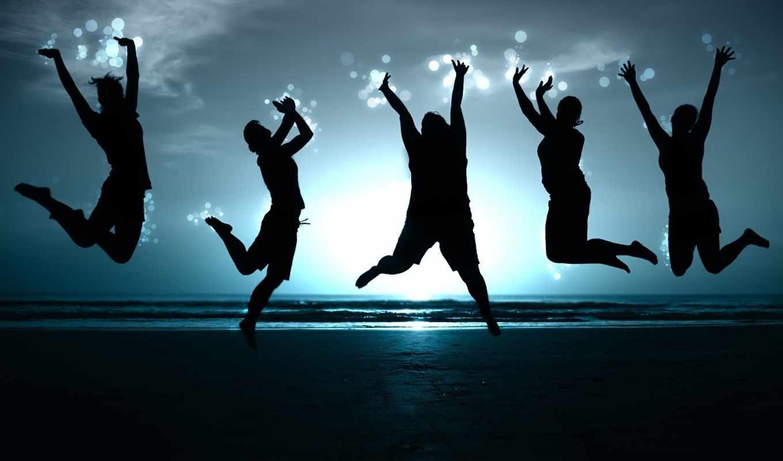 люди, прыжок,