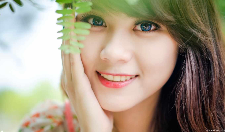 улыбка, девушка, лицо, людей,