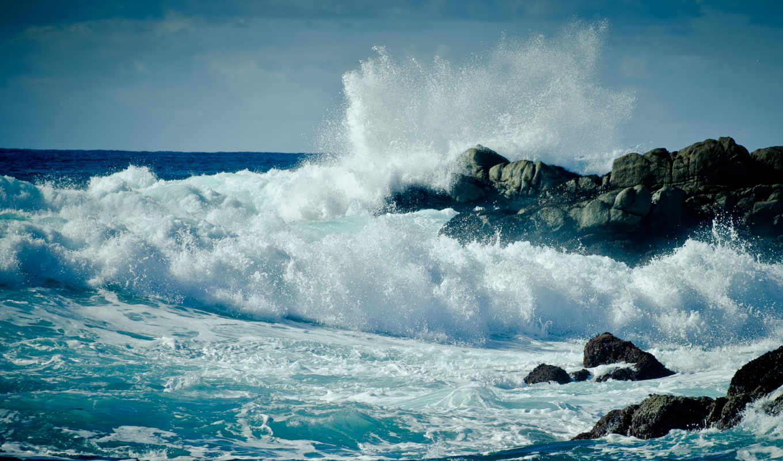 море, буря, water, ocean, брызги, волны,, скалы, волна, капли, drop,