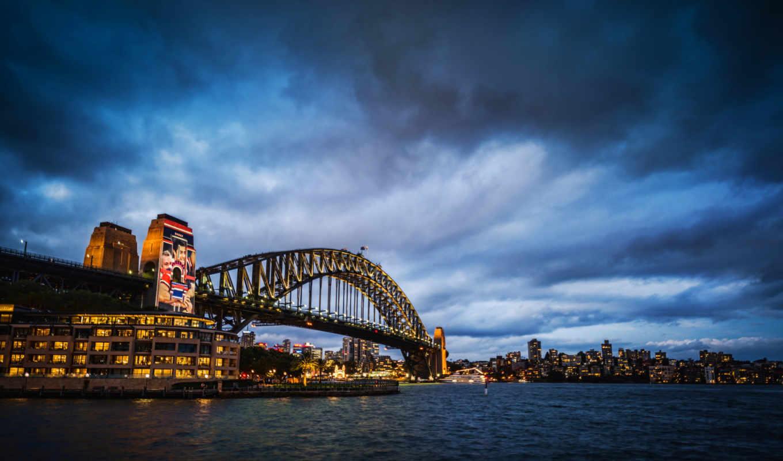 город, ночь, австралия, sydney, торент, мост, гавань, iphone,