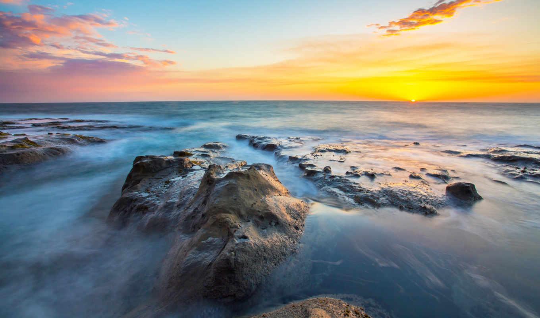 небо, море, clouds, природа, закат, free, ocean,