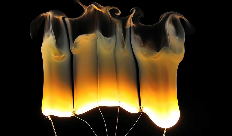 lamps, fire, flames, abstract, разное, details, desktop, great, bulb, filament, изображение,