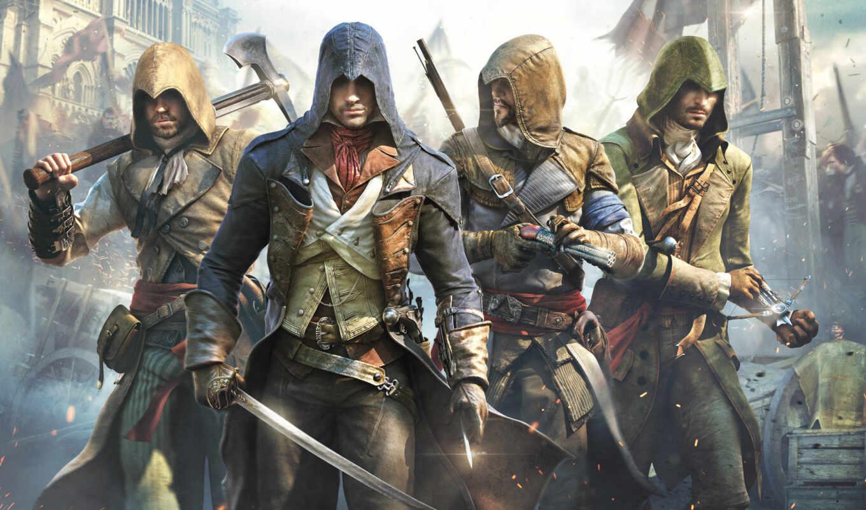 ago, creed, assassin, игре, игры, unity, ubisoft,