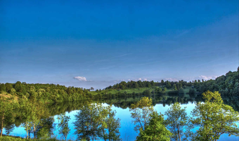 priroda, пейзаж, ozero, германия, горы, небо, бавария, парки, waterton, reki,