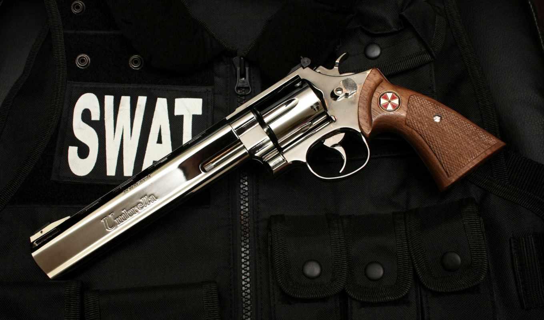 revolver, зонтик, swat, oruzhie,
