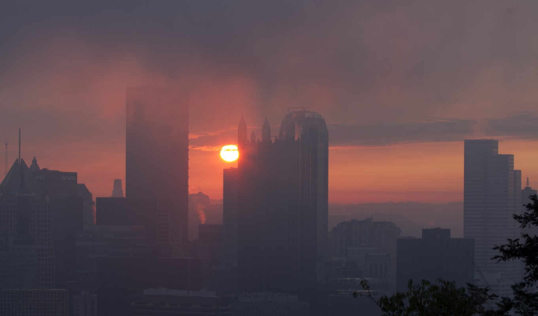 ,город,дымка,туман,высотки,