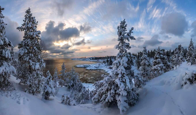 winter, карелия, oir, paanayarvat, озеро