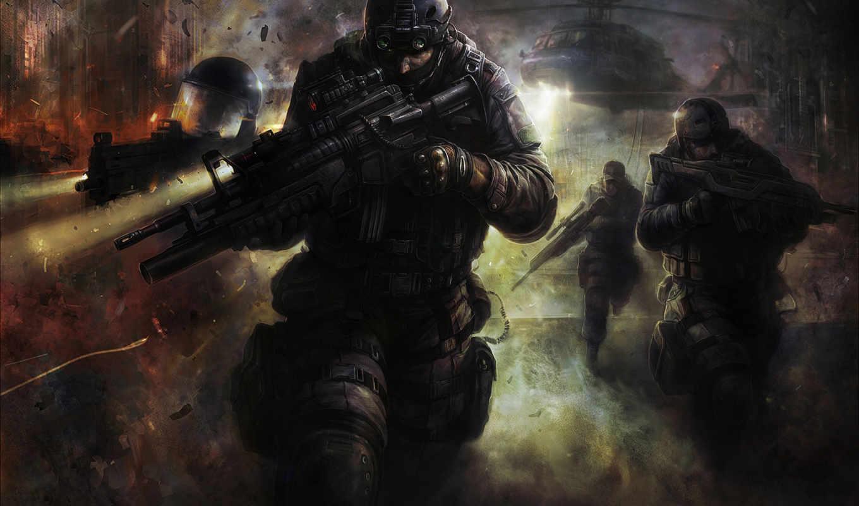 солдаты, высадка, спецназ, оружие, вертолет, сборник, прекрасных, креативные, blackshot, forces,