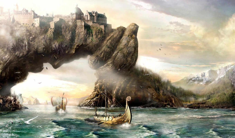 skyrim, xem, солитьюд, замок, elder, scrolls, phim, similar, art, solitude, fantasy, colors, share, full, фэндомы, tes, minus,