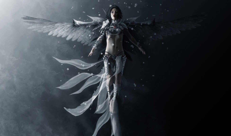 angel, девушка, крылья, фантастика,