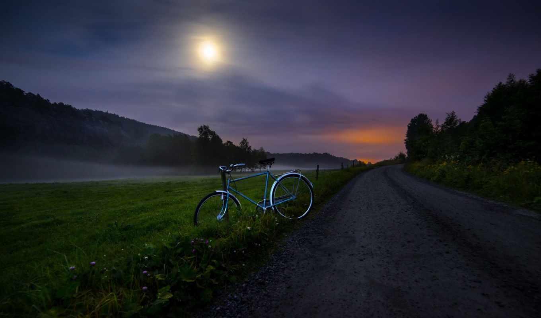 велосипед, дорога,