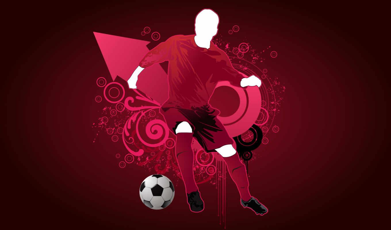 futebol, parede, papel, jogador, papéis,