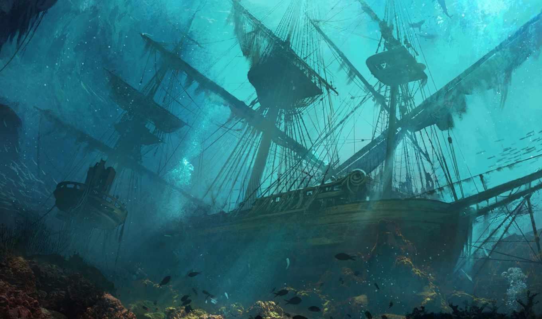 корабль, корабли, дне, затонувшие, море, моря, bottom, янв, близко, стюартов, петербурга,