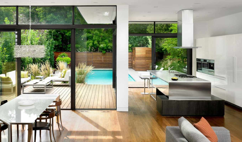 мебель, kitchen, стиль, техника, house, картинка, современный, окна,