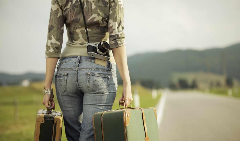девушка, со, girls, дороге, starting, different, разрешениях, чемоданами,