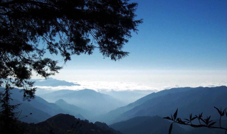 горы, among, утро, облаков, разных, природа, разрешениях, янв,