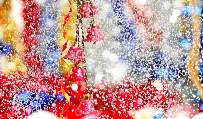 новый, год, фото, обои, колокольчики, новогодние,