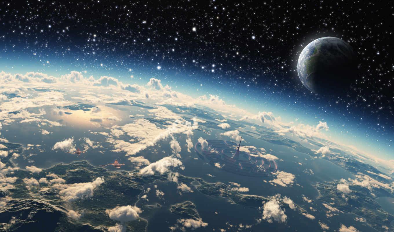 world, micro, облака, планета, картинку, кнопкой, изображение, правой,