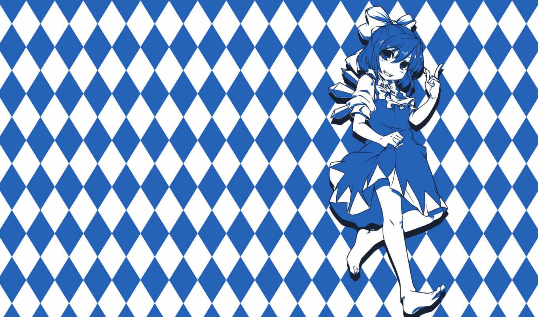 cirno, blue, hair, аниме, изображение, фабрика, картинок, picsfab,