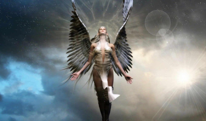фэнтези, ангелы, angel, devushki, качестве, част, россия, fantasy,
