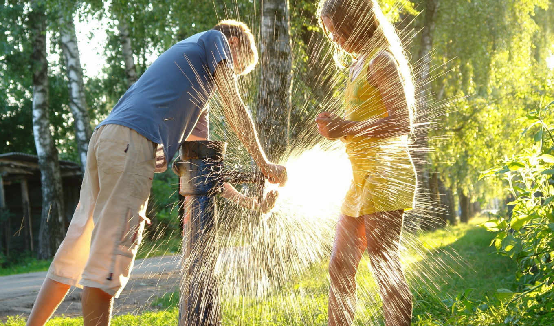summer, children, настроение,