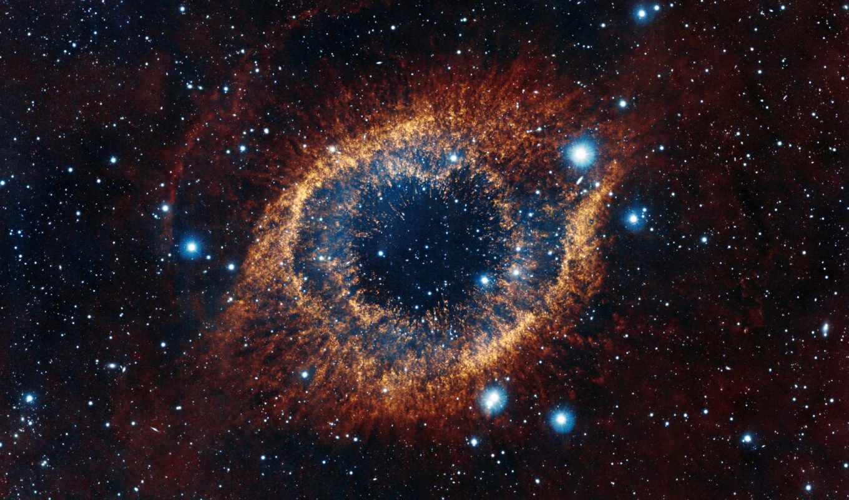 созвездие, водолея, улитка, space, туманность, звезды, картинка, helix, красиво, галактика, outer, шикарно, stars, eye, туманость, eyes,