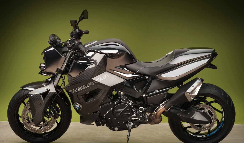 bmw, predator, vilner, bike, custom, static, green, background,