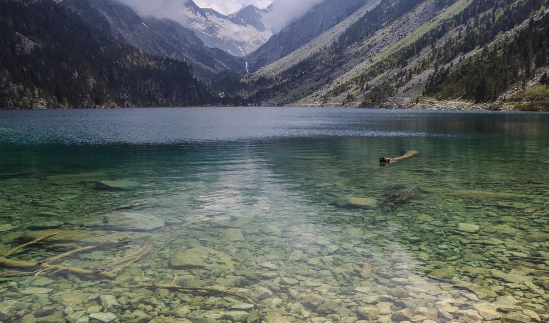 природа, камни, озеро, прозрачность, горы,